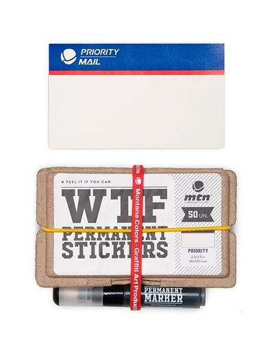 MTN - WTF Permanent Sticker Pack Priority Mail mit Marker