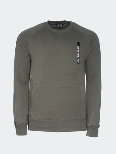 Unfair Athletics - Taped Zip Crewneck olive (SALE)