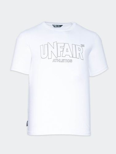 Unfair Athletics - Classic  Label Outline T-Shirt (white)