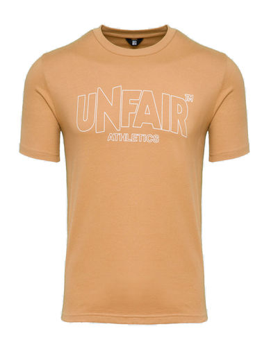 Unfair Athletics -   Classic Label Outline T-Shirt Brown