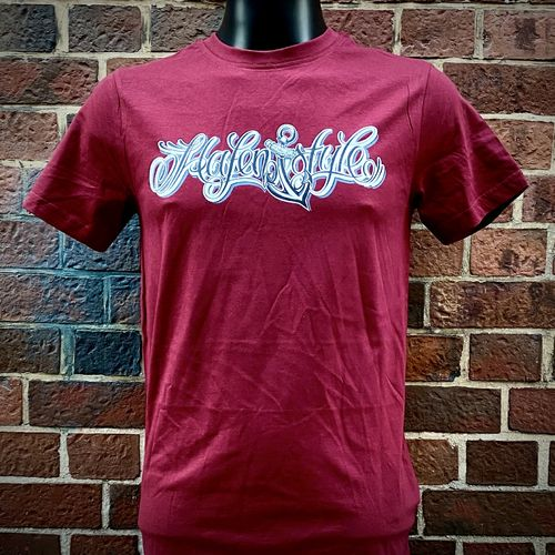 Hafenstyle - Classic Logo T-Shirt (Burgundy) ***LOCK DOWN***