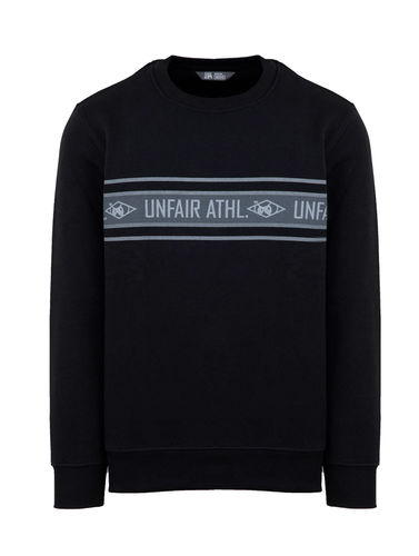 Unfair Athletics - Athl. Striped Crewneck (black) (50 % SALE)