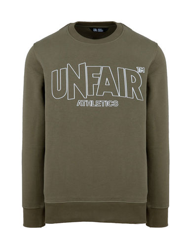 Unfair Athletics - Classic Label Outline Crewneck (olive) ***SALE***