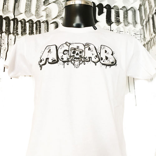 Hafenstyle - ACAB Skull T-Shirt (White) LIMITED EDITION