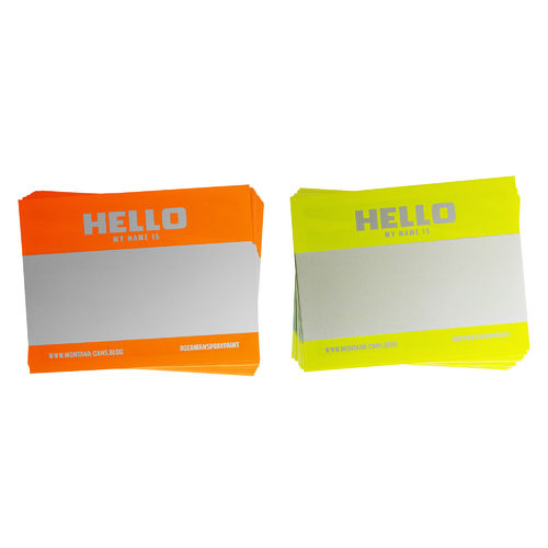 Montana - Hello my name is Sticker Packs + Neon Orange / Neon Yellow