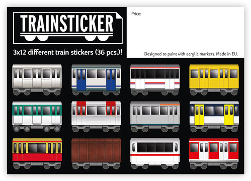 Trainsticker - 36er Sticker Set (A7)