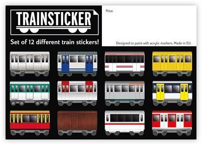 Trainsticker - 12er Sticker Set (A4)