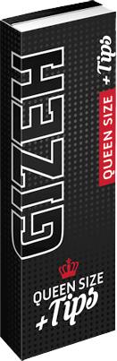 GIZEH - BLACK Extra Fine QUEEN SIZE Plus Tips (50 Blatt / Tips)