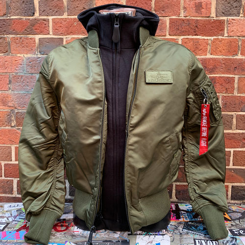 Alpha Industries - MA-1 D-Tec Bomberjacke (dark green / black)