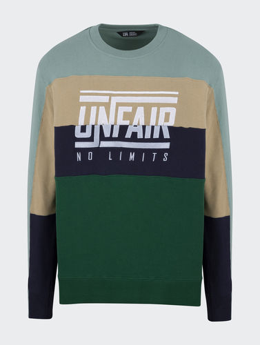 Unfair Athletics - No Limit Crewneck (green mix) ***LOCK DOWN***
