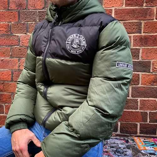 Unfair Athletics - DMWU Puffer Jacket (green/black) ***SALE***