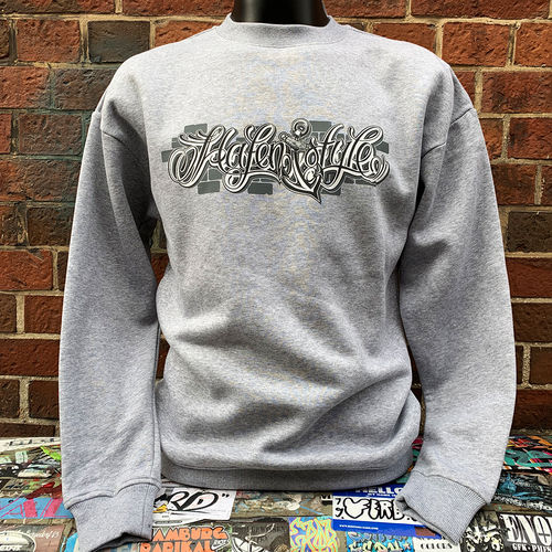 Hafenstyle - Wall Logo Anchor Crewneck  (heather grey) ***SALE***