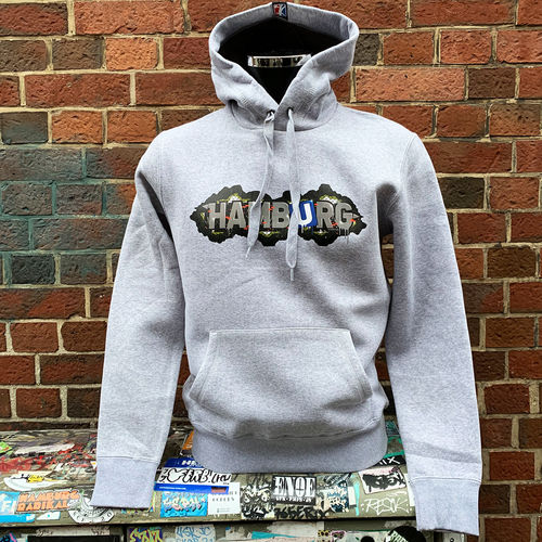 Hafenstyle - Hamburg Fence Hoodie (heather grey) XXL bis 4XL ***LOCK DOWN***