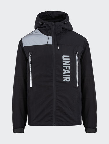 Unfair Athletics - Reflective Hooded Jacket (black) ***SALE***