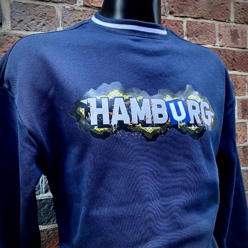 Hafenstyle - Hamburg Fence College Crewneck (navy) bis 5XL ***LOCK DOWN***