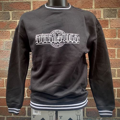 Hafenstyle - Con Safos College Crewneck (black) ***LOCK DOWN***