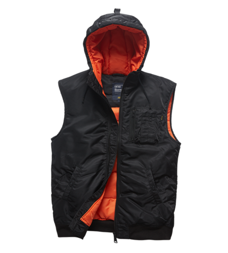 Vintage Industries - Smith Bodywarmer Hooded Vest (black)