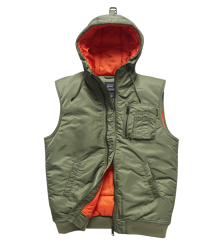Vintage Industries - Smith Bodywarmer Hooded Vest (olive sage)