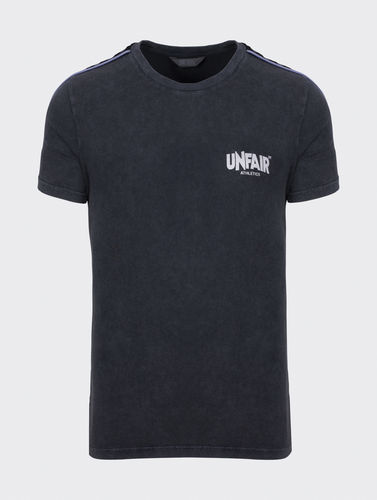 Unfair Athletics - Classic Label Taped T-Shirt (black washed)