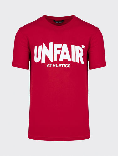 Unfair Athletics - Cassic Label T-Shirt (red) aw20