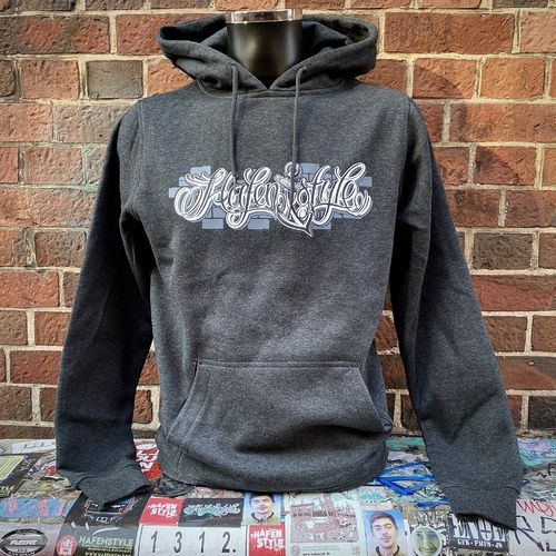 Hafenstyle - Wall Logo Hoodie (dark wall grey) bis 5 XL
