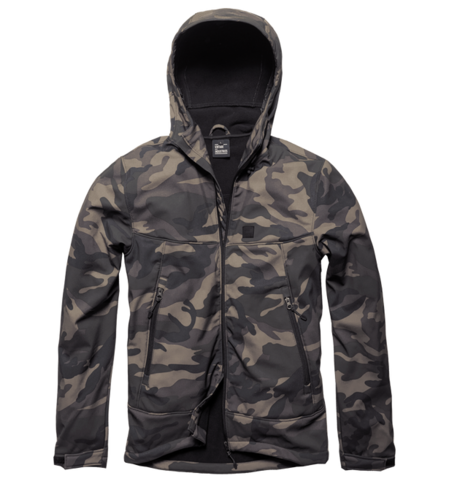 Vintage Industries - Alford Softshell Jacke (dark camo)