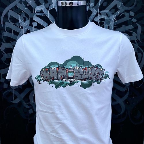 Hafenstyle - Subway 4 Elbbrücken T-Shirt (white) bis 5 XL