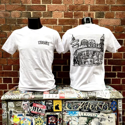 Hafenstyle - Graffiti Kiosk Hamburg BP T-Shirt (white) bis 5 XL